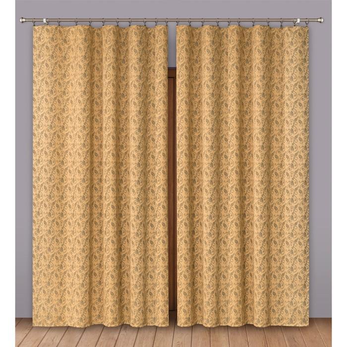 Комплект штор, размер 180х280 см-2 шт., цвет коричневый