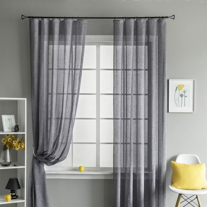 Комплект штор «Брама», размер 260х280 см-2 шт, цвет фиолетовый