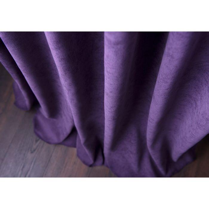 Комплект штор «Спринг», ш 170 х в 270 см - 2 шт, фиолетовый