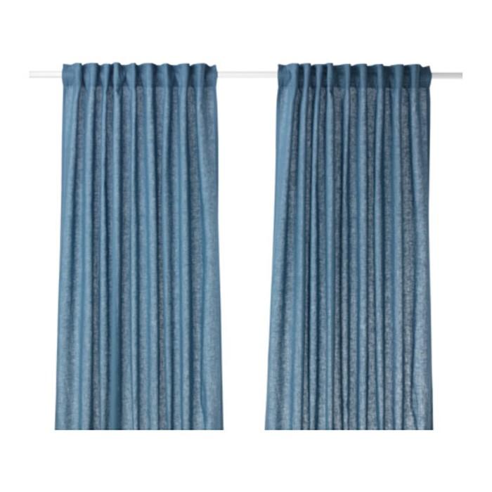 Гардины АЙНА, размер 145х300 см-2 шт., цвет синий