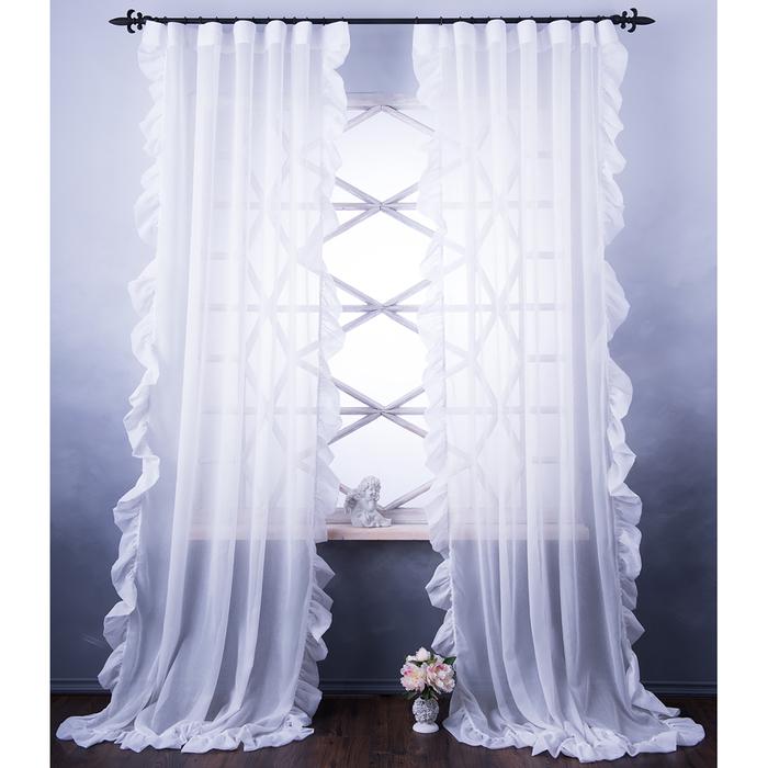 Комплект штор «Бэтси», размер 200х270 см, белый