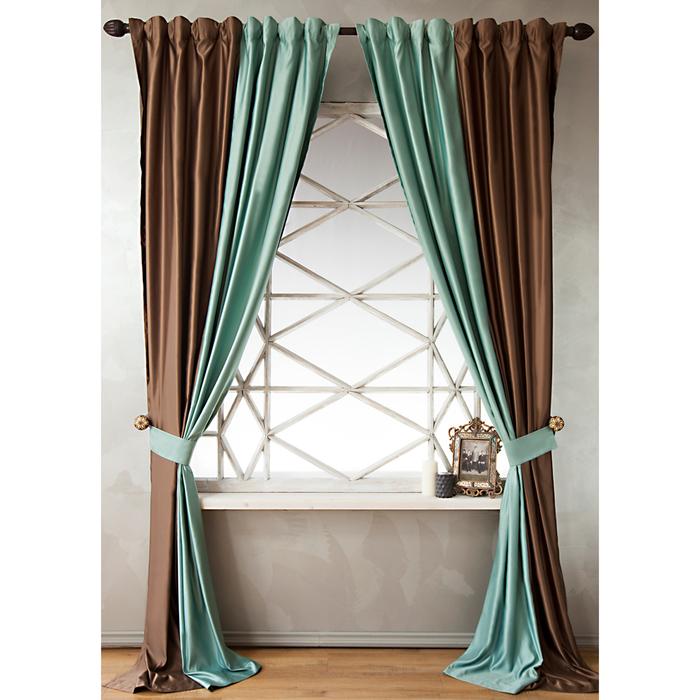 Комплект штор «Кидман», размер 140х270 см, светло-бирюзовый