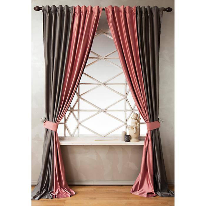 Комплект штор «Кидман», размер 140х270 см, розовый