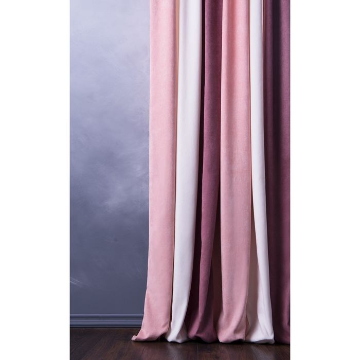 Комплект штор «Спринг», ш 170 х в 270 см - 2 шт, розовый