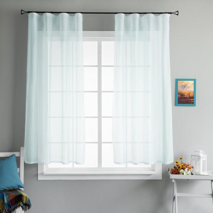 Комплект штор «Шелби», размер 145 × 175 см - 2 шт, голубой