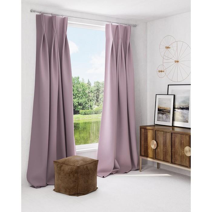Комплект штор «Грейси», размер 150 × 260 см - 2 шт, пепельно-розовый