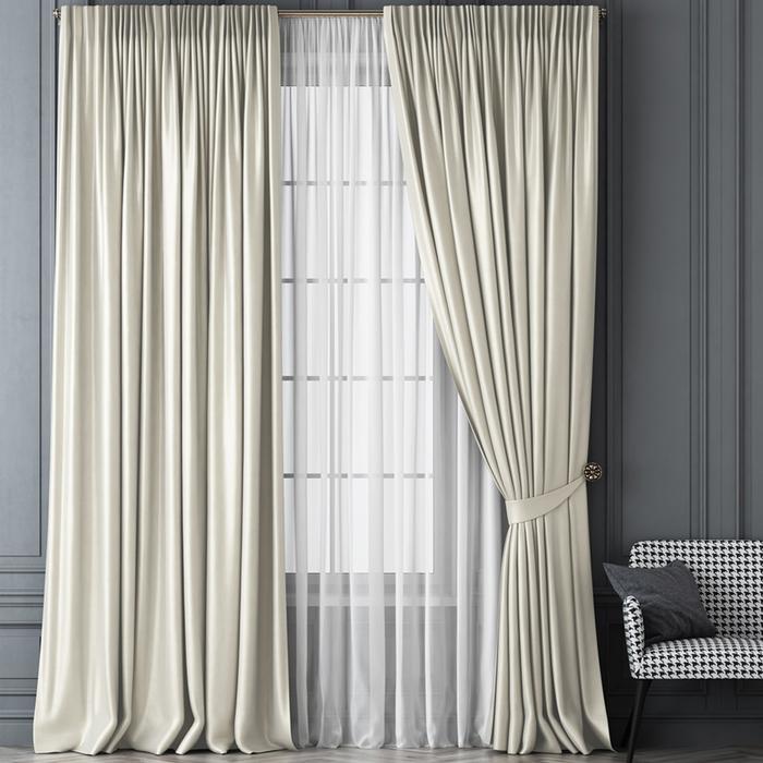 Комплект штор «Шанти», размер 170х270 см, белый
