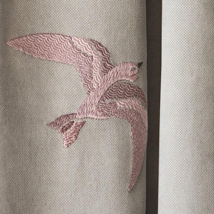 Комплект штор «Либерти», размер 145 × 270 см - 2 шт, серый
