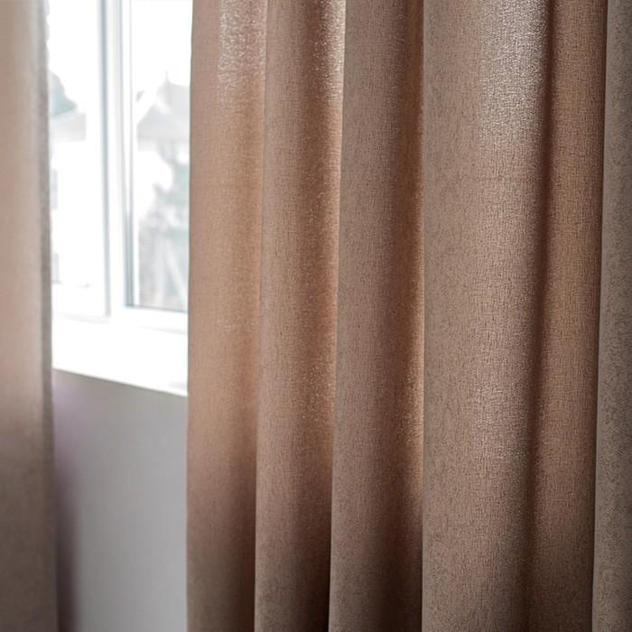 Шторы Dialog, размер 160х270 см-2 шт., цвет венге, шторная лента
