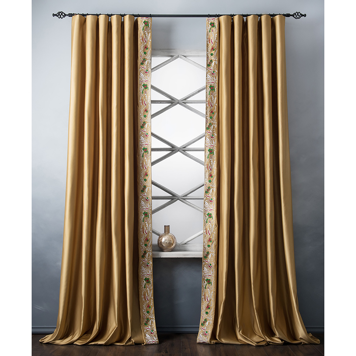 Комплект штор «Шарлиз», размер 200х280 см, золотой