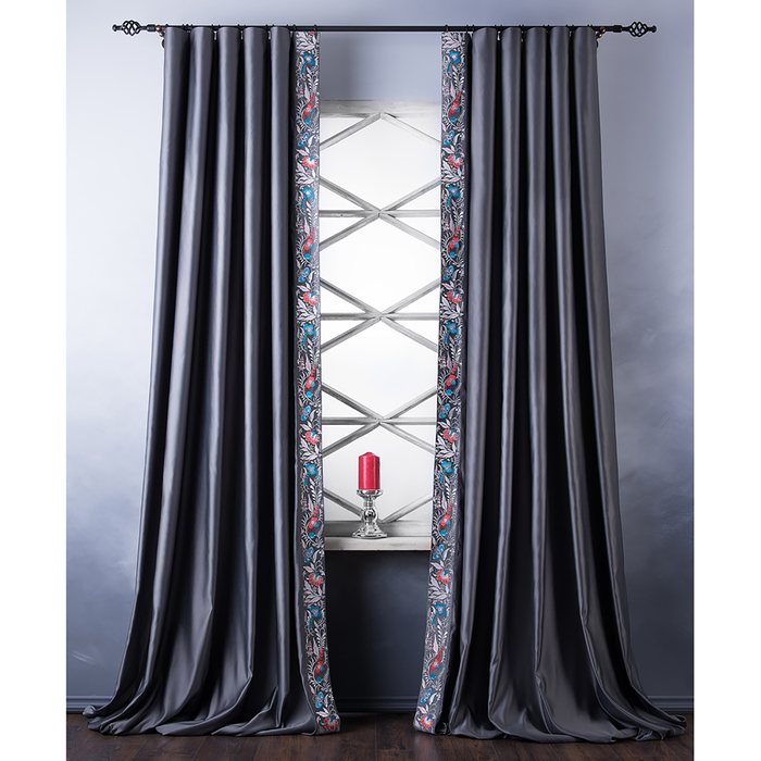 Комплект штор «Шарлиз», размер 200х280 см, серый