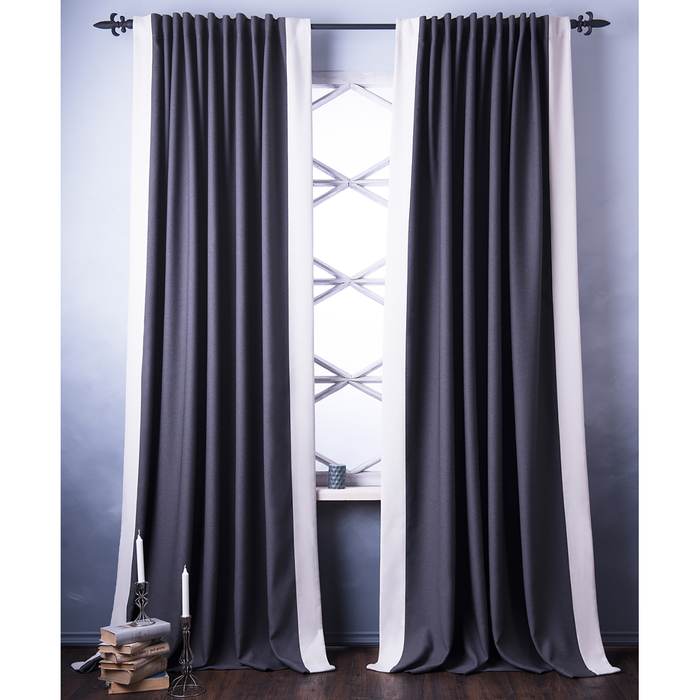 Комплект штор «Нова», размер 240х270 см, серый