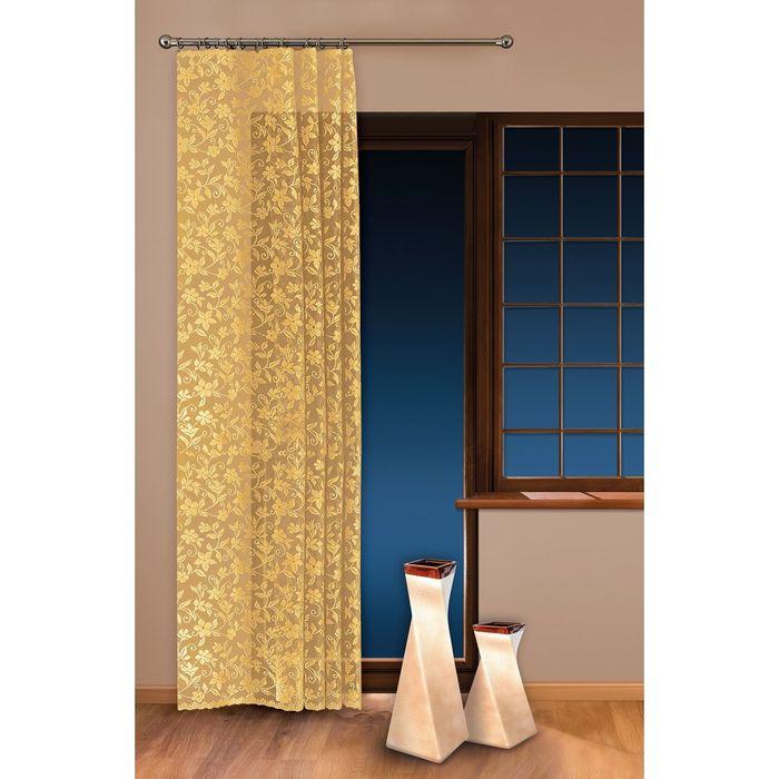 Гардина-тюль, размер 150х250 см, жёлтый 5924