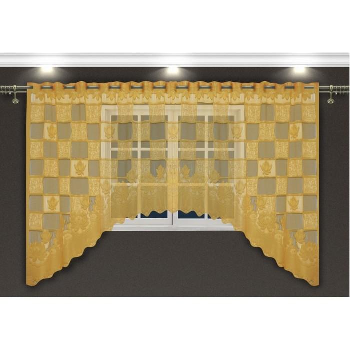 Гардина, размер 300х160 см, золотой 88871
