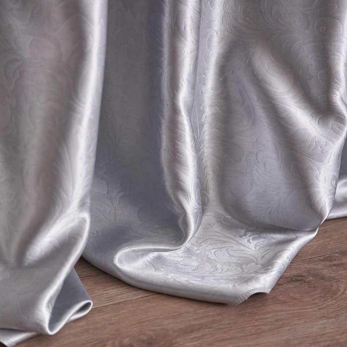 Штора портьерная Водевиль 135х260 см, серебряный, пэ 100%