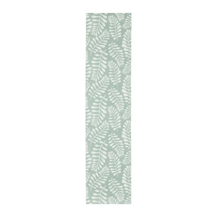 Гардина ЮРЛА, размер 60х300 см, цвет зелёный/белый