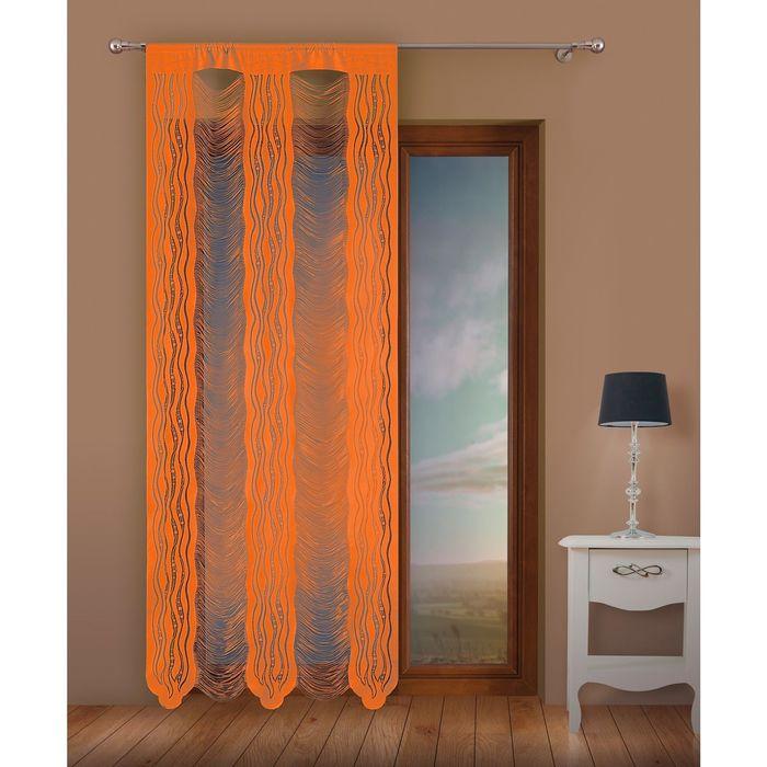 Гардина-лапша, размер 100х250 см, оранжевый 9632