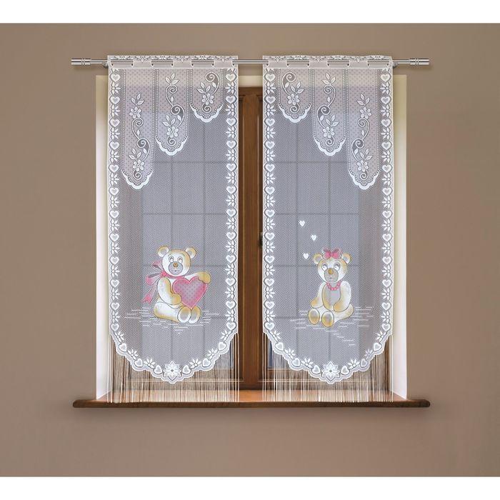Комплект гардин, размер 60х120-2 шт, цвет белый