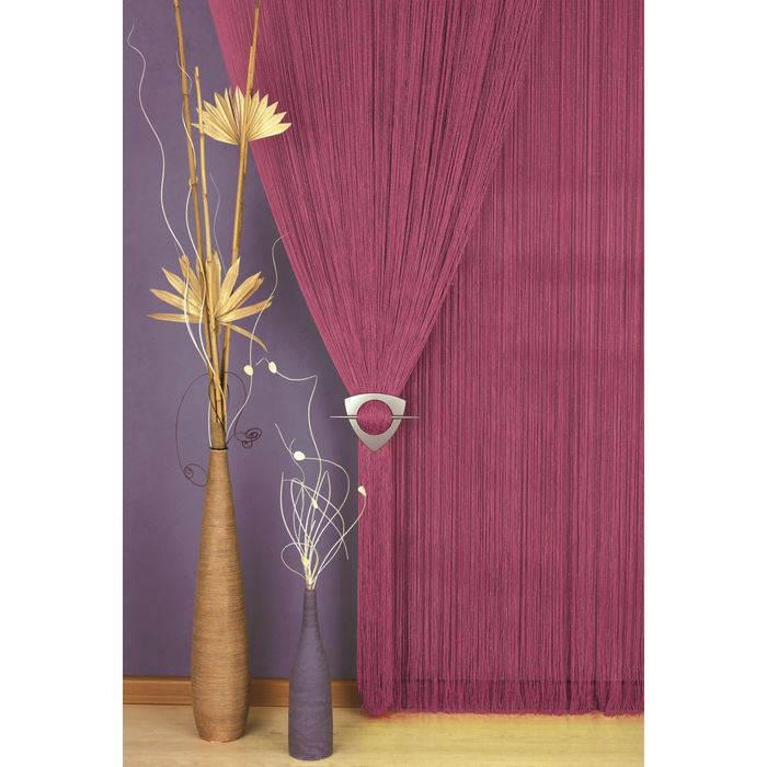 Гардина-лапша, размер 90х250 см, цвет бордо