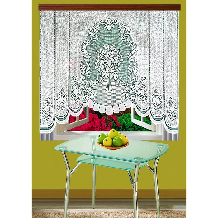 Гардина жаккардовая, размер 160х210 см, цвет белый 1254