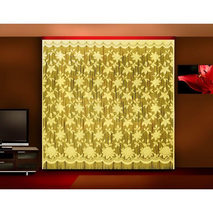 Гардина-лапша, размер 250х250 см, цвет крем 7030