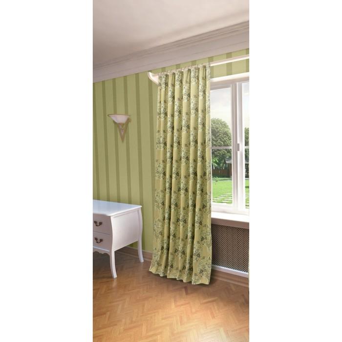 Портьера «Лесли», ш. 200 х в. 260 см, цвет зелёный