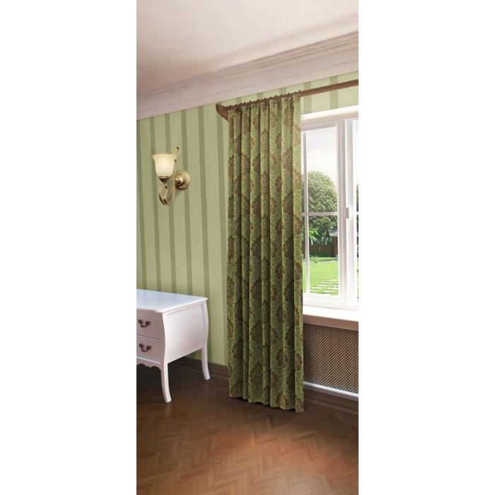 Портьера «Белинда», ш. 200 х в. 260 см, цвет зелёный