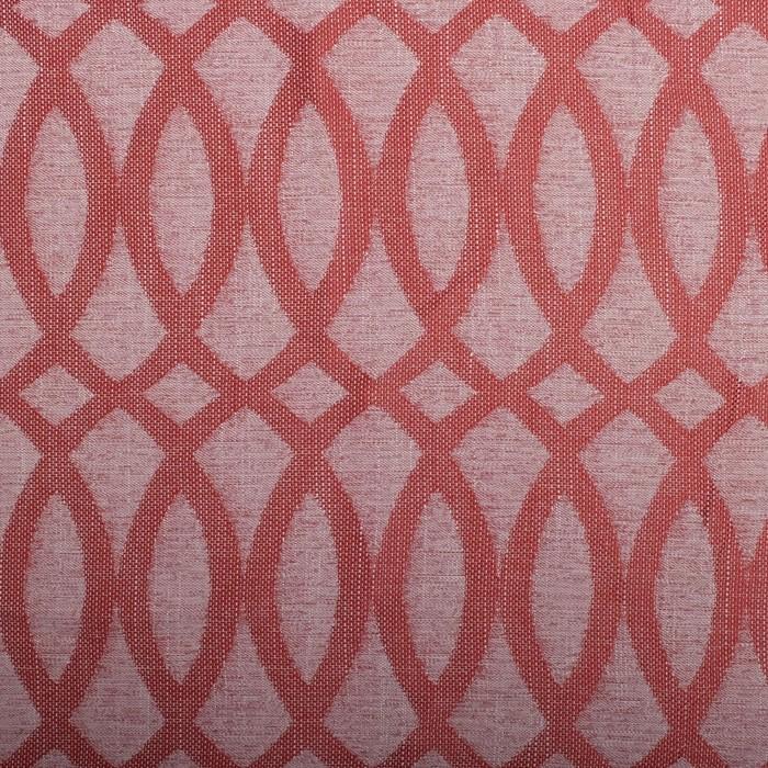 Шторы портьерные Геометрия жаккард красный 190*260 2шт, 190 г/м2, 100% полиэстер