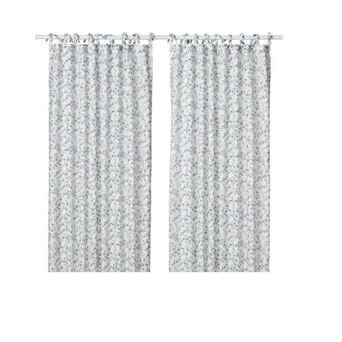 Гардины ХЭССЛЕКЛОККА, размер 145х300 см, цвет белый