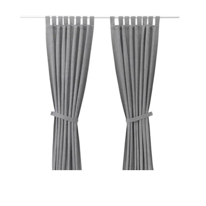 Гардины с прихватом ЛЕНДА, размер 140х300 см, цвет серый