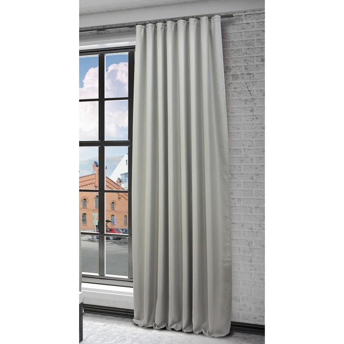 Портьера «Твила», ш. 200 х в. 280 см, цвет серый