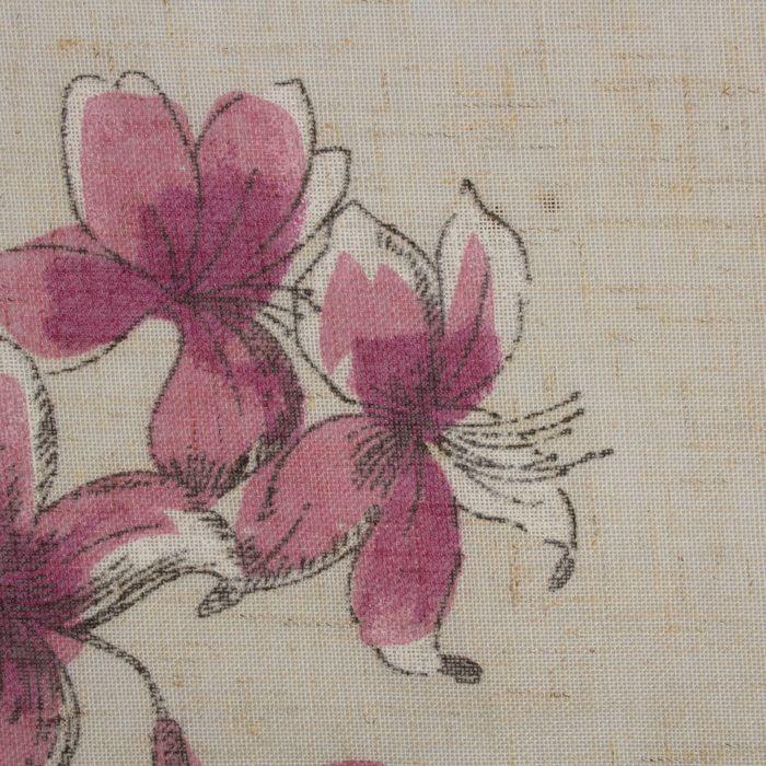 Штора портьерная «Этель» 135×260 см, Цветущий сад, полулён, 15% лён, 85% п/э