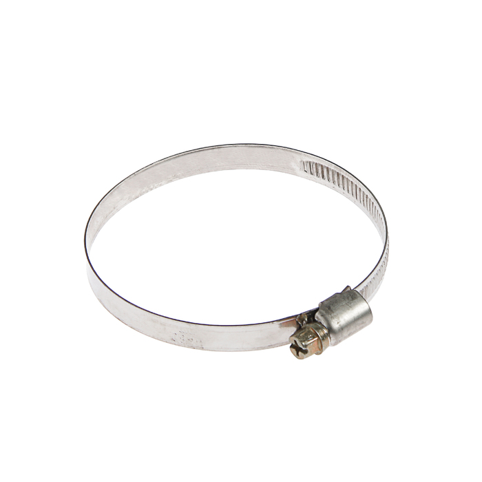 Хомут червячный TUNDRA krep W2, диаметр 60-80 мм, ширина 9 мм, нержавеющая сталь