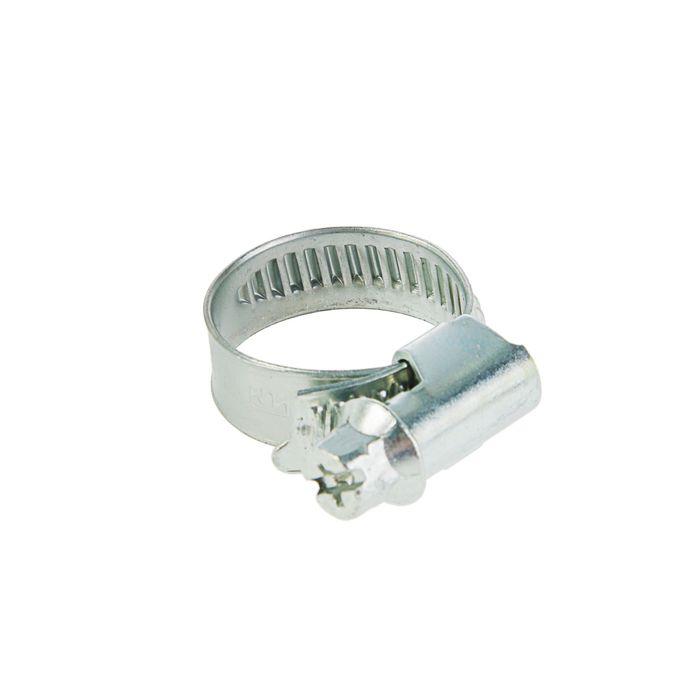 Хомут червячный TUNDRA krep, диаметр 12-22 мм, оцинкованный