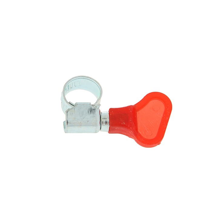 "Хомут с ""барашком"" TUNDRA krep, несквозная просечка, диаметр 8-12 мм, ширина 9 мм"