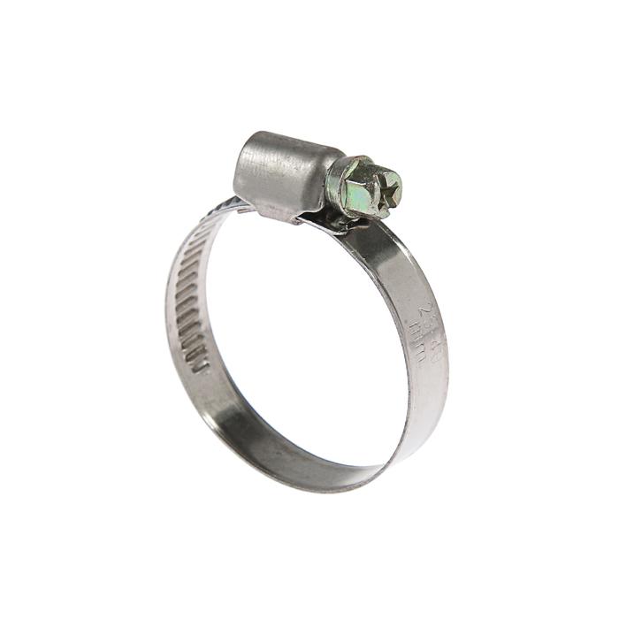 Хомут червячный TUNDRA krep W2, диаметр 25-40 мм, ширина 9 мм, нержавеющая сталь