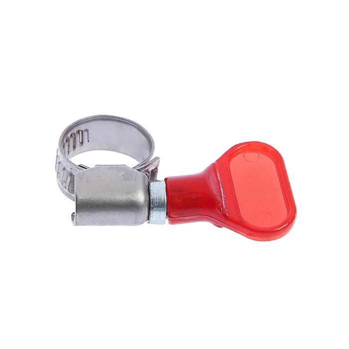 "Хомут с ""барашком"" TUNDRA krep W2,  диаметр 10-16 мм, ширина 9 мм, нержавеющая сталь"