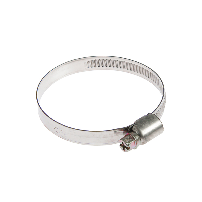Хомут червячный TUNDRA krep W2, диаметр 40-60 мм, ширина 9 мм, нержавеющая сталь