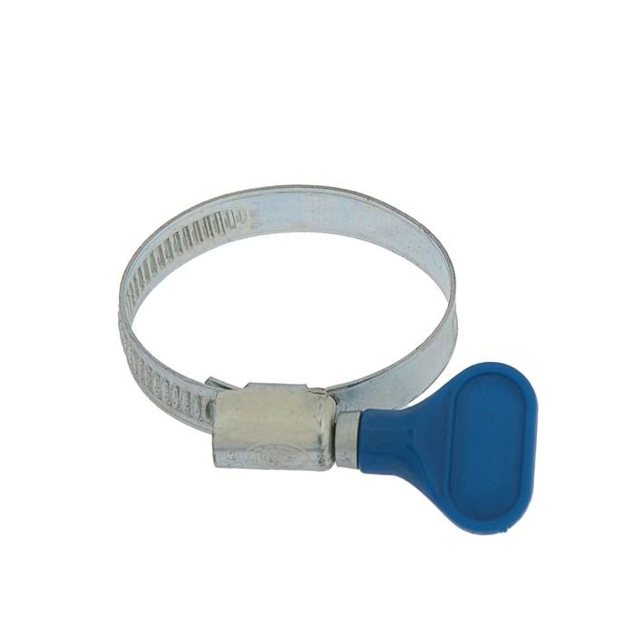 Хомут червячный с ключом MGF, диаметр 30-45 мм, оцинкованный