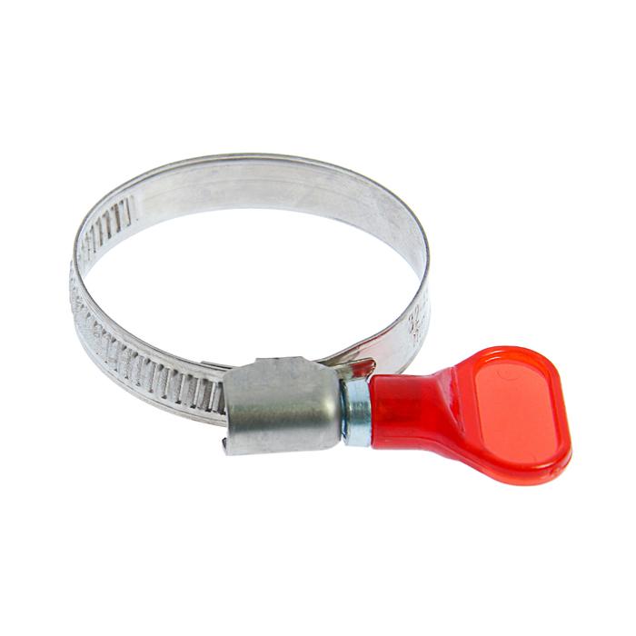 "Хомут с ""барашком"" TUNDRA krep W2,  диаметр 32-45 мм, ширина 9 мм, нержавеющая сталь"