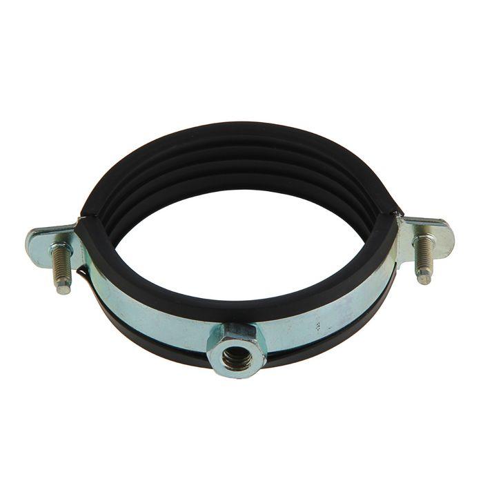 """Хомут для труб с гайкой М10, 3"""", диаметр 87-93 мм"""