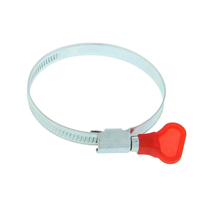 "Хомут с ""барашком"" TUNDRA krep, несквозная просечка, диаметр 50-70 мм, ширина 9 мм"