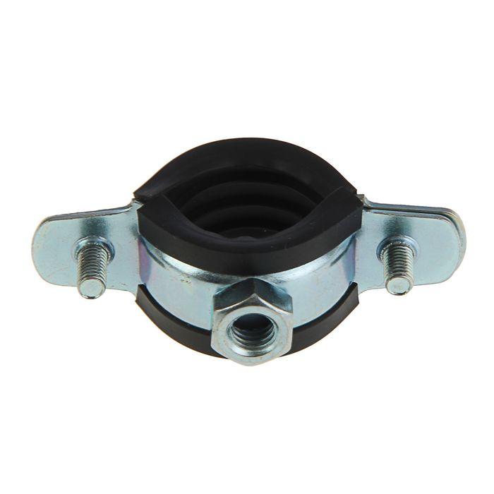 """Хомут для труб с гайкой М8, 3/4"""", диаметр 25-30 мм"""