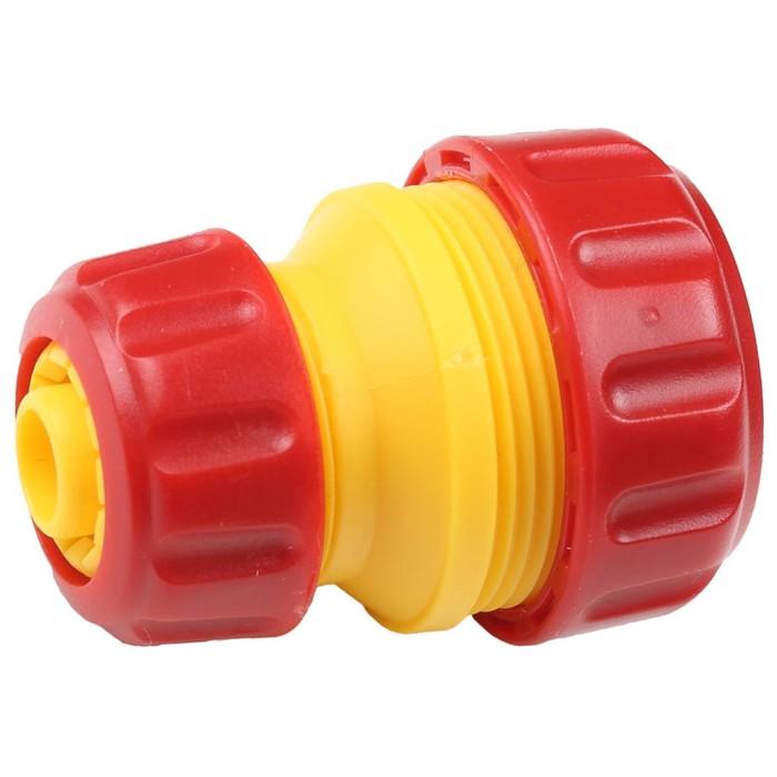 "Муфта-коннектор, d=1/2""-3/4"" (12-19 мм), пластик, GRINDA"