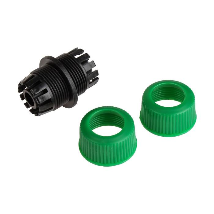 "Муфта-соединитель, 1/2"" (12 мм) – 1/2"" (12 мм), цанга, рр-пластик"