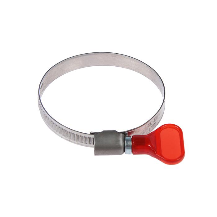"Хомут с ""барашком"" TUNDRA krep W2,  диаметр 40-60 мм, ширина 9 мм, нержавеющая сталь"