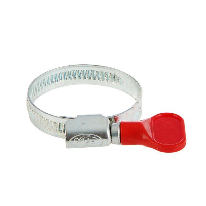 Хомут червячный с ключом MGF, диаметр 25-40мм, оцинкованный