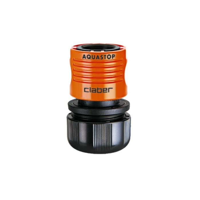 "Коннектор с аквастопом, 3/4"" (19 мм), пластик, Claber"