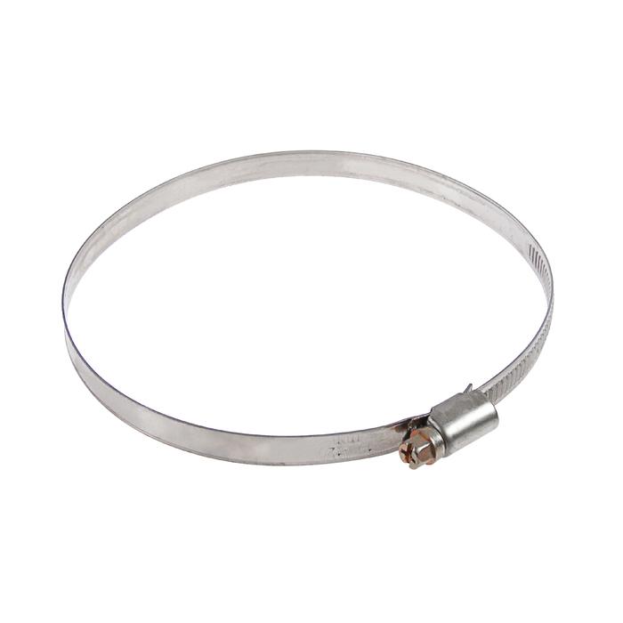 Хомут червячный TUNDRA krep W2, диаметр 100-120 мм, ширина 9 мм, нержавеющая сталь