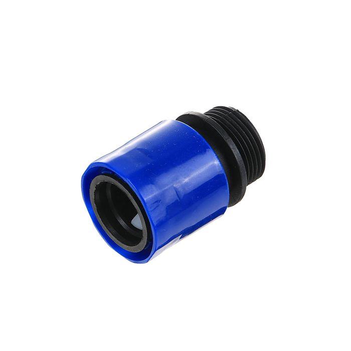 """Коннектор, 3/4"""" (19 мм), наружная резьба, ABS-пластик"""